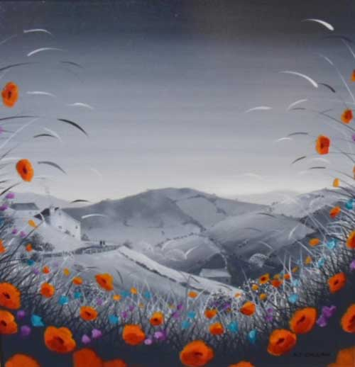 Poppy View - Painting by A J Callan