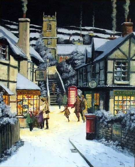 Window Shopping - Painting by Alan King