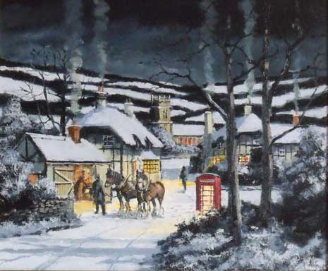 Awaiting Winter Shoes - Painting by Alan King
