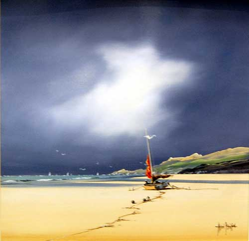 Beach Scene - Painting by Allan Morgan