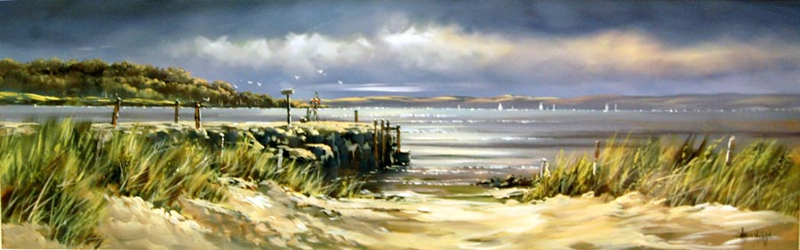 Gentle Dunes - Painting by Allan Morgan