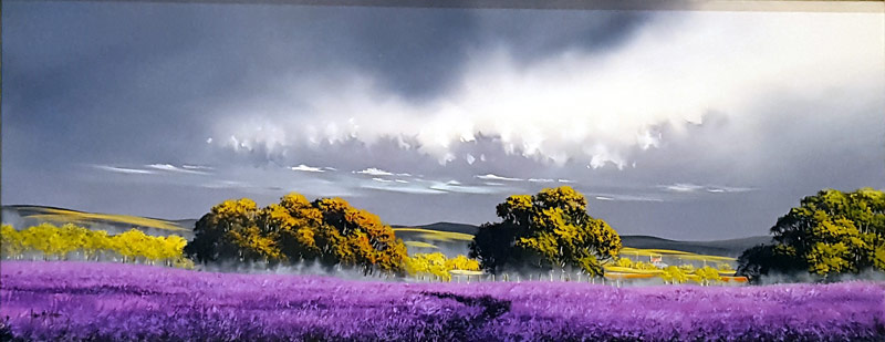Lavander Horizons - Painting by Allan Morgan