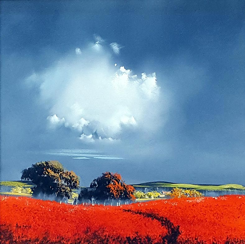 Storm of Red - Painting by Allan Morgan