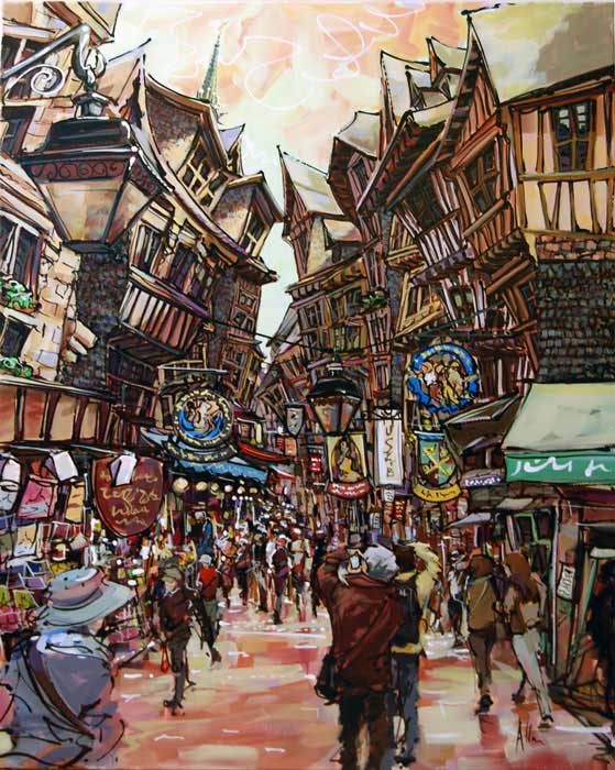 Mont St Michel - Painting by Allan Stephens