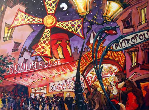Moulin Rouge - Painting by Allan Stephens