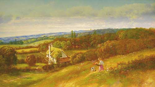 Hill View - Painting by Andrew Grant Kurtis
