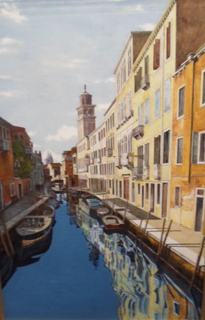 Venice - Painting by Andrew McAllister