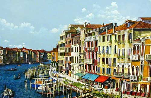 The Grand Canal - Painting by Andrew McAllister