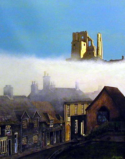 Corfe - Painting by Andrew McAllister