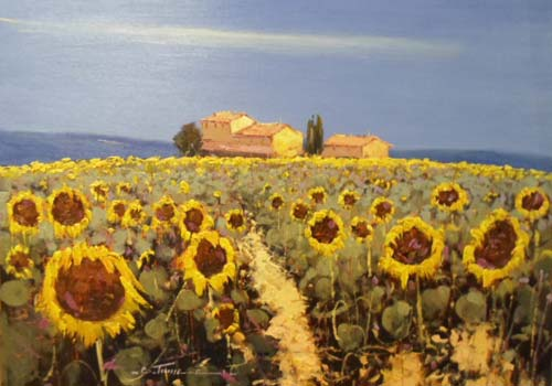 Sunflowers - Painting by Bruno Tinucci