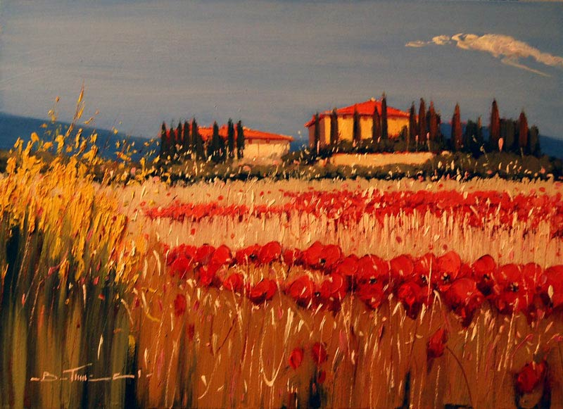 Under a Tuscan Sun - Painting by Bruno Tinucci