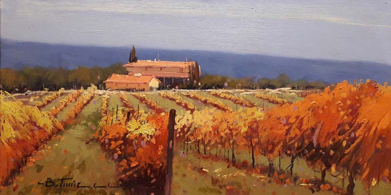 Tuscan Fields - Painting by Bruno Tinucci