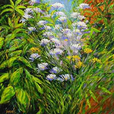 Floral Extravaganza - Painting by Carl Scanes