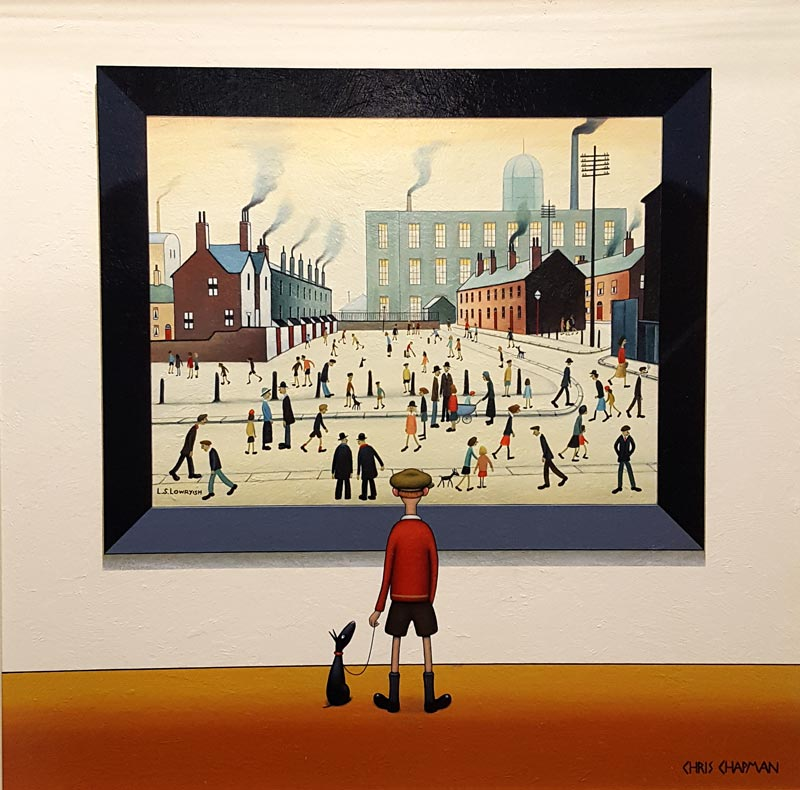 People in the Street - Painting by Chris Chapman