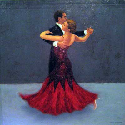 Dancing Couple - Painting by Chris Chapman