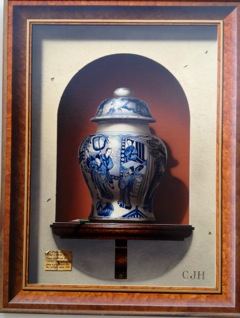 Blue and White Vase - Painting by Christopher J. Harrison