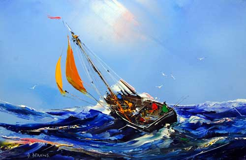 Sail the Storm - Painting by David Deakins