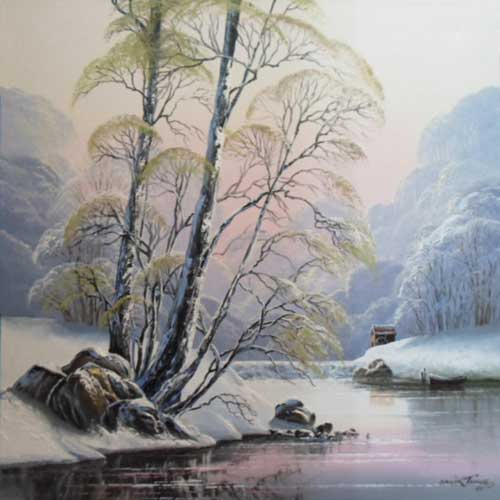 Winter River - Painting by David James