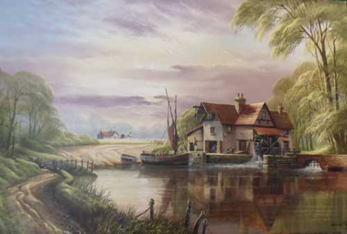 The Miller's House - Painting by David James