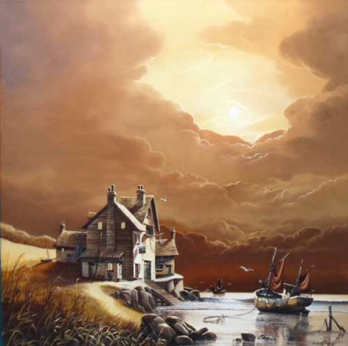 The Ship Inn - Painting by David James