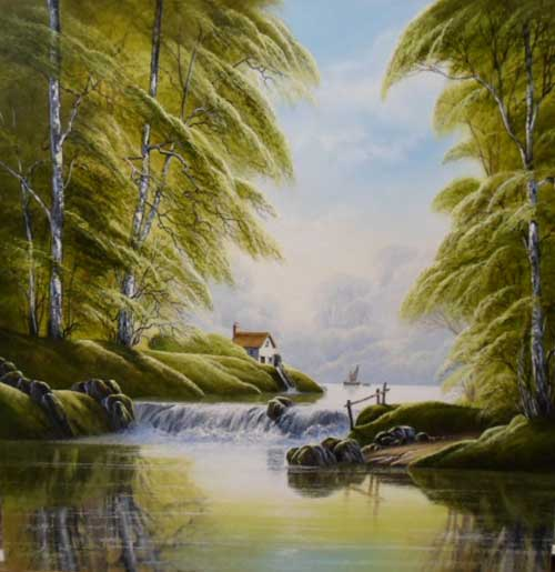 By the Mill - Painting by David James