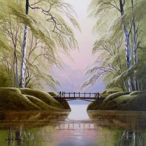 The Bridge - Painting by David James
