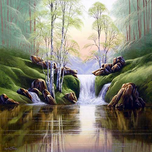 Mirrored Waters - Painting by David James