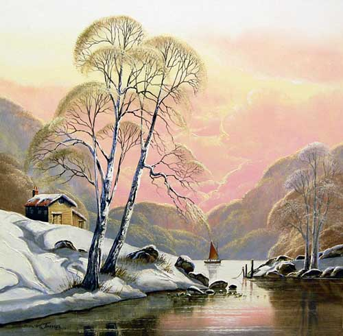 Winter Calm - Painting by David James