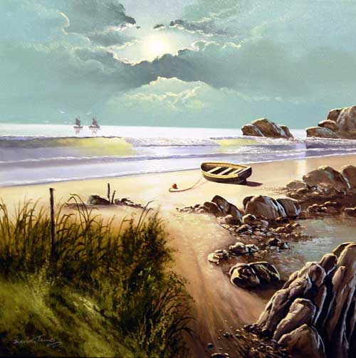 Empty Sands - Painting by David James