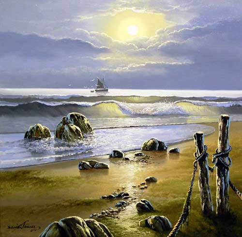 Morning Tides - Painting by David James