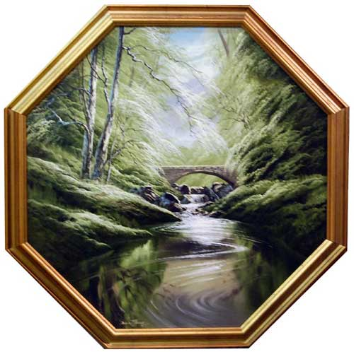 Streams of Green - Painting by David James