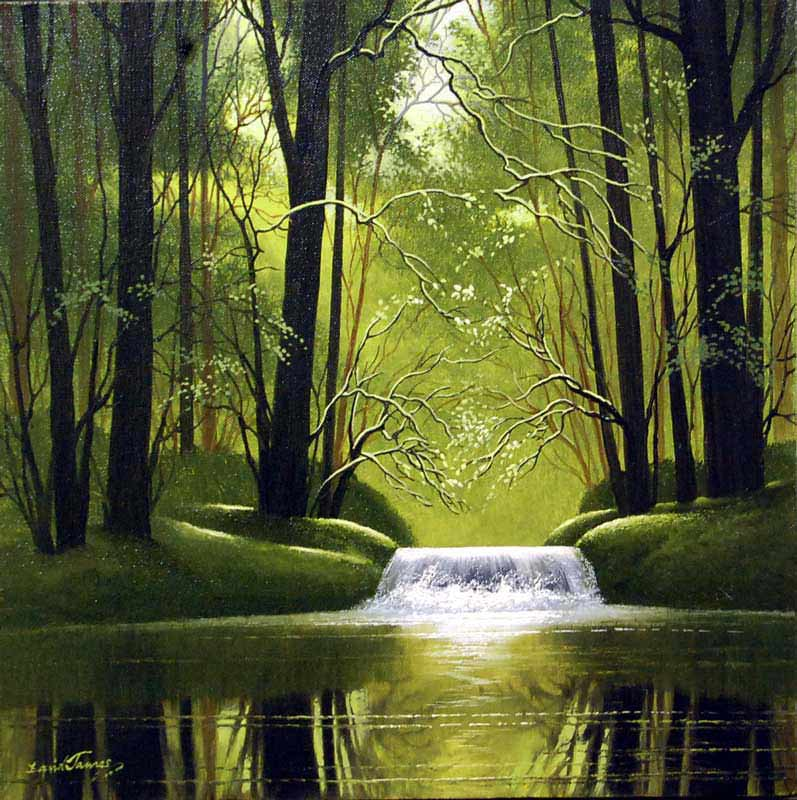 Waters Flow - Painting by David James
