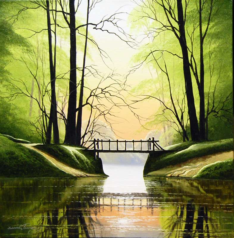 River Crossing - Painting by David James