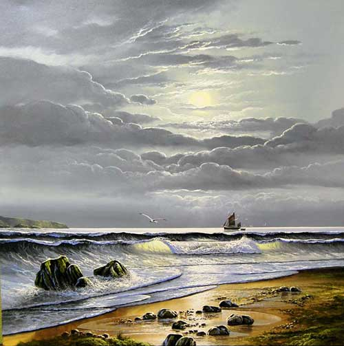 Golden Tide - Painting by David James