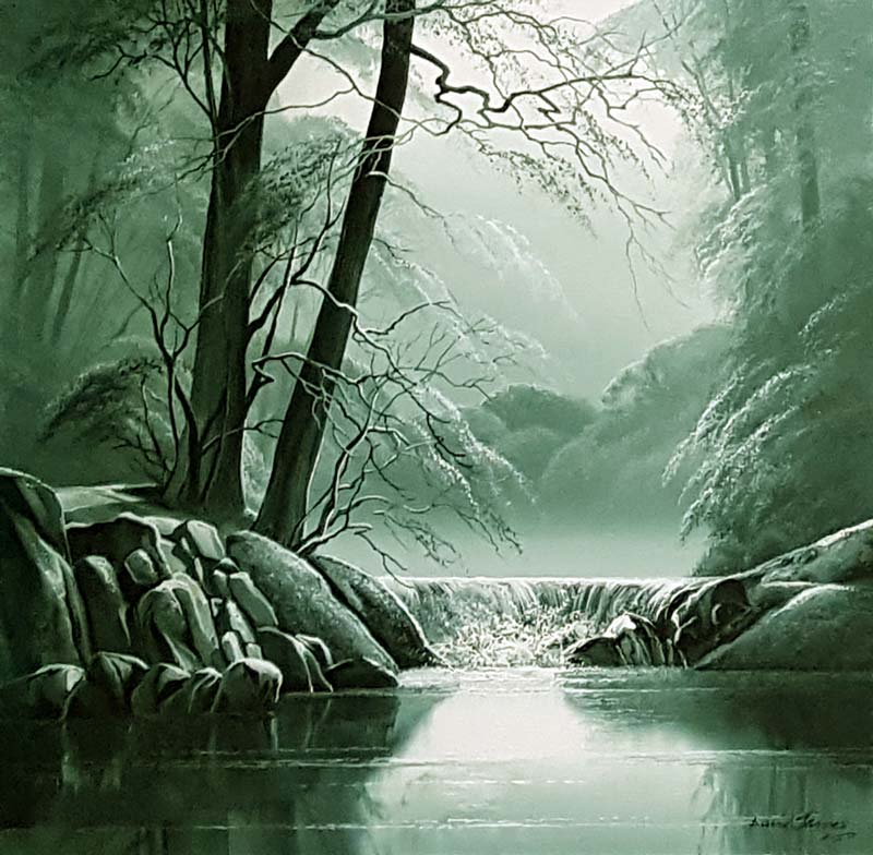 The Waters Way - Painting by David James