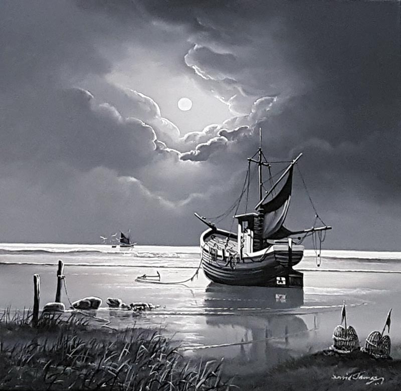 Moonlit Way - Painting by David James