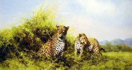Leopards - Painting by David Shepherd