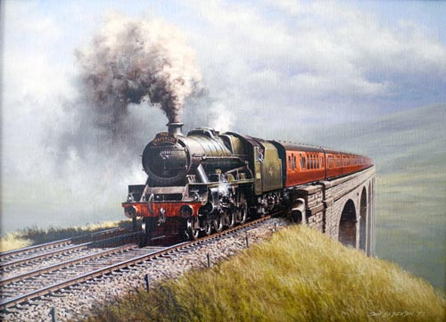 Jubilee at Ribblehead - Painting by Don Breckon