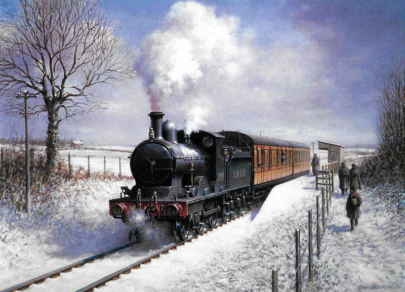 Winter Steam - Painting by Don Breckon