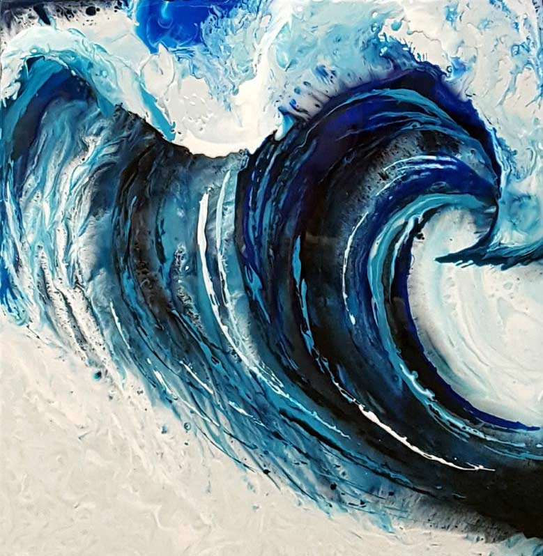 Ocean Fury - Painting by Emma jones