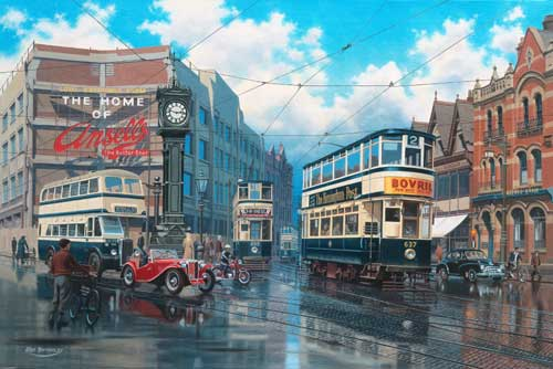 Aston Cross Birmingham - Painting by Eric Bottomley