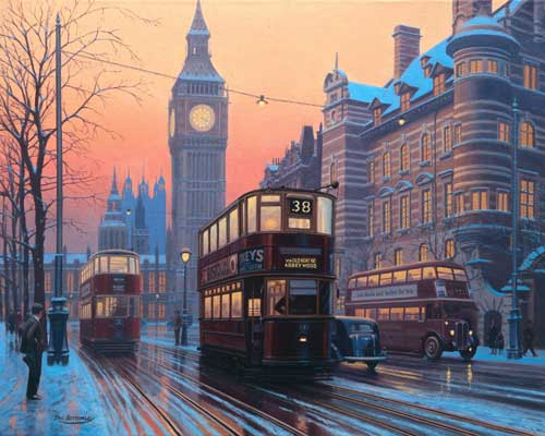 Faithful Servants (London) - Painting by Eric Bottomley