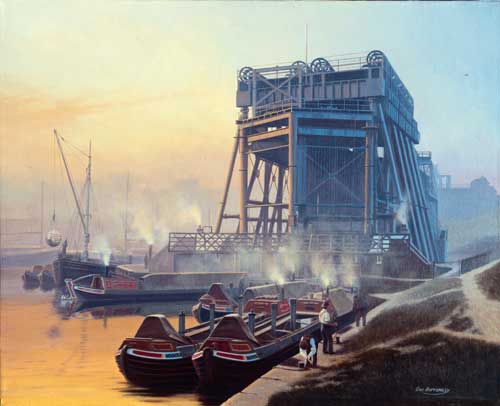 The Anderton Boat Lift - Painting by Eric Bottomley