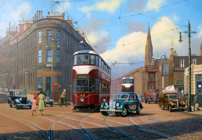 Edinburgh, Abbey Hill - Painting by Eric Bottomley