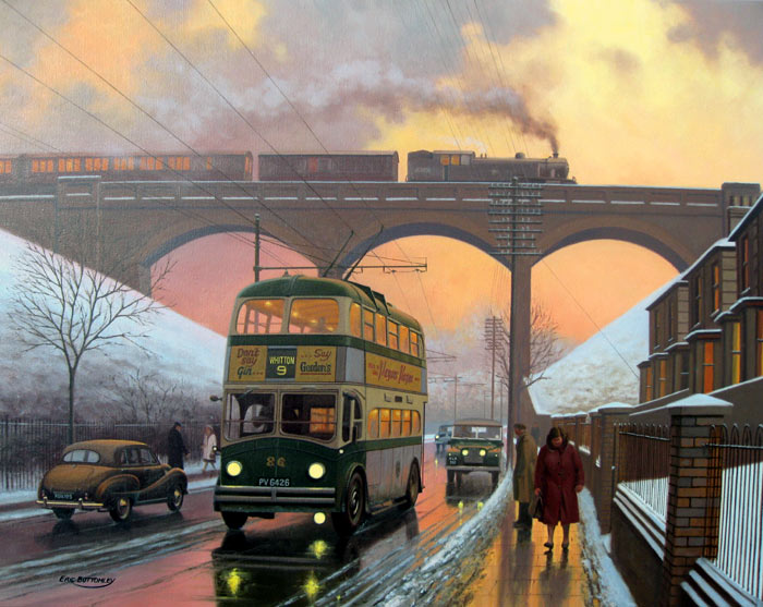 Spring Road Memories, Ipswich - Painting by Eric Bottomley