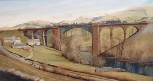 Firbank Viaduct, Cumbria - Painting by Eric Bottomley