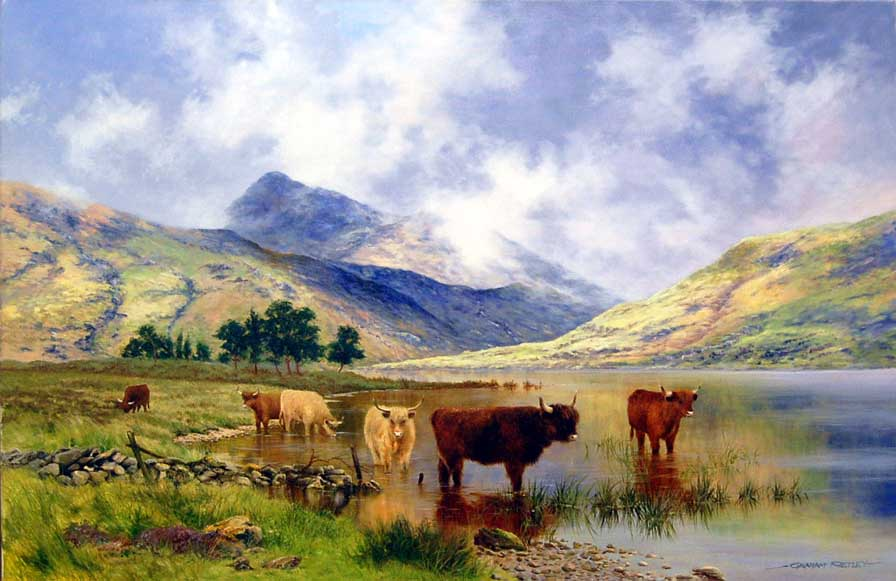 Tranquil Hills - Painting by Graham Petley