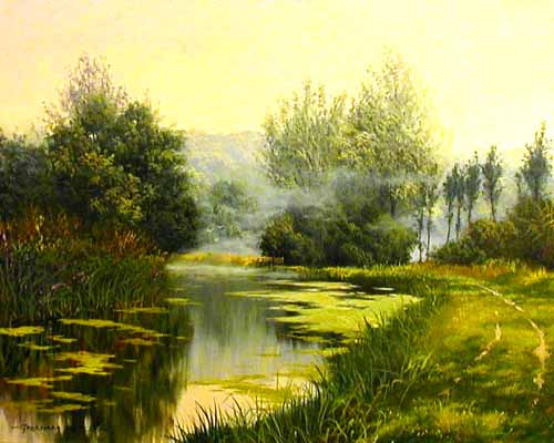 In Chalmer Valley - Painting by Graham Petley