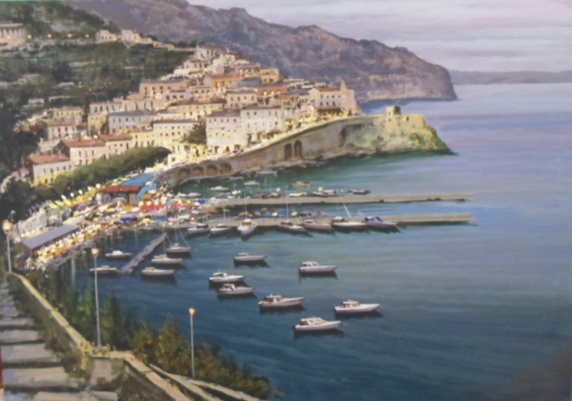 Amalfi - Painting by Iannicelli