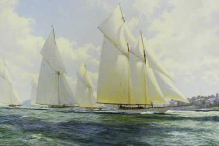 Westward Reaching Through Cowes Roads - Painting by J Steven Dews